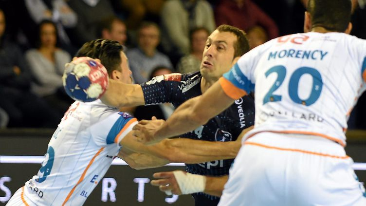 Michael Guigou et Montpellier ont été dominé par Toulouse (BRUNO CAMPELS / MAXPPP)