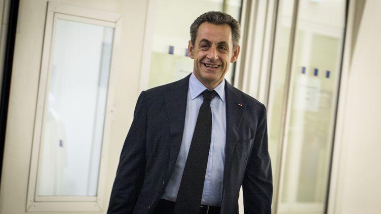 Nicolas Sarkozy, le 1er décembre 2014, au siège de l'UMP à Paris. (MICHAEL BUNEL / NURPHOTO)