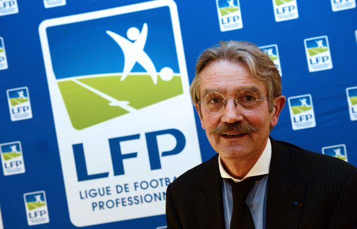 Frédéric Thiriez, président de la Ligue de football professionnel de 2002 à 2016, le 12 octobre 2012 à Paris. (FRANCK FIFE / AFP)