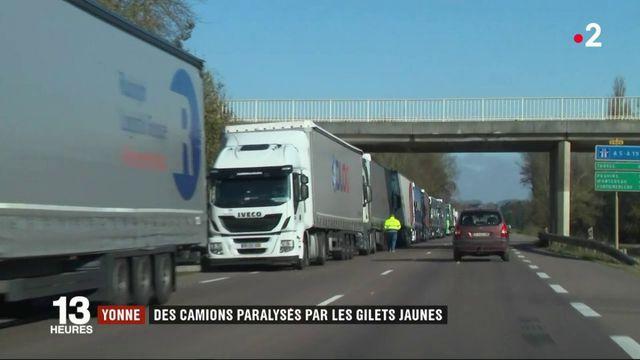 """""""Gilets jaunes"""" : des camions paralysés dans l'Yonne"""