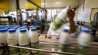 L'usine de lait Canélia, groupe Lactalis, le 11 septembre 2017. (MAXPPP)