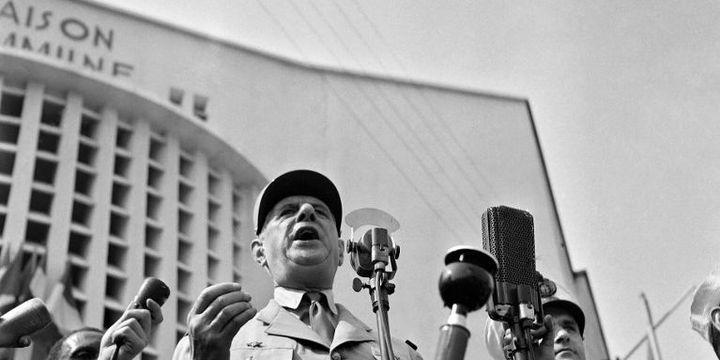 De Gaulle à Brazzaville, le 24 août 1958. (AFP)