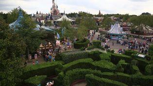 Le parc d'attraction Disneyland Paris, à Marne-la-Vallée (Seine-et-Marne), le 10 mai 2014. (MAXPPP)