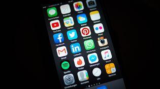 Un écran d'iPhone 6 avec diverses applications montré à Berlin, le 21 octobre 2015. (ROBERT SCHLESINGER / PICTURE ALLIANCE)