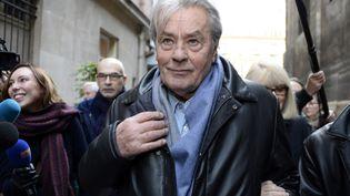 L'acteur Alain Delon, soutien de Christine Boutin,photographié le 22 novembre 2013 à Paris. (BERTRAND GUAY / AFP)