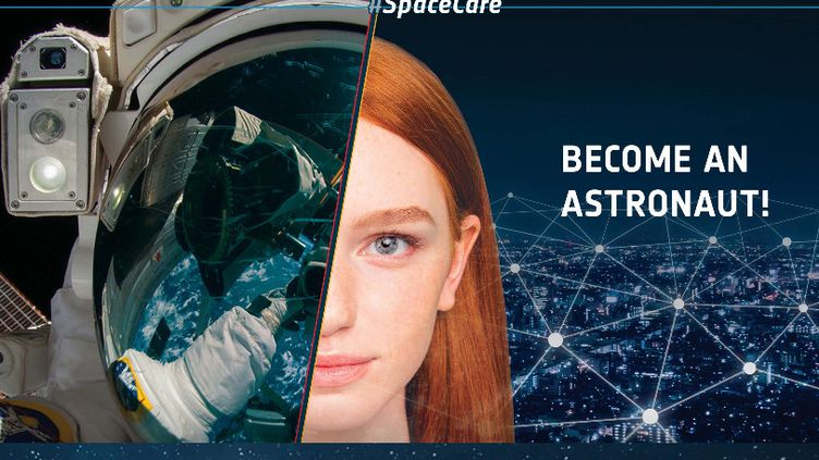 Campagne de recrutement d'astronautes sur le site del'Agence spatiale européenne (ESA). (ESA)
