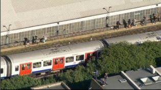 La station de Parsons Green, située dans le sud-ouest de Londres, le 15 septembre 2017. (APTN)