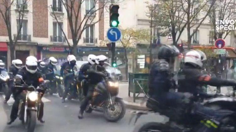 Les nouvelles brigades motorisées de la police (FRANCEINFO)
