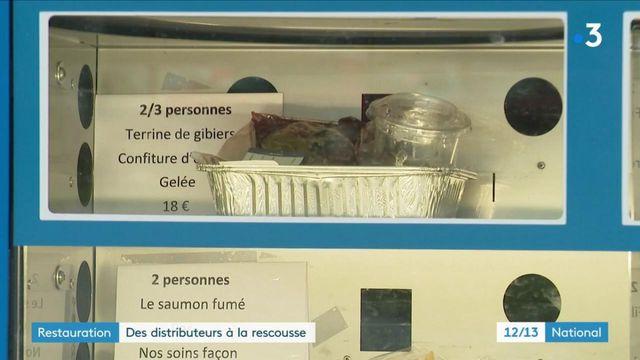 Crise sanitaire : des restaurateurs proposent des plats dans des distributeurs