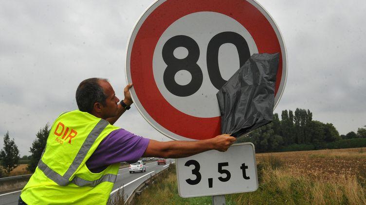 La vitesse est déjà réduite à 80 km/h pour les poids lourds sur cette route de l'agglomération lilloise. (MAXPPP)