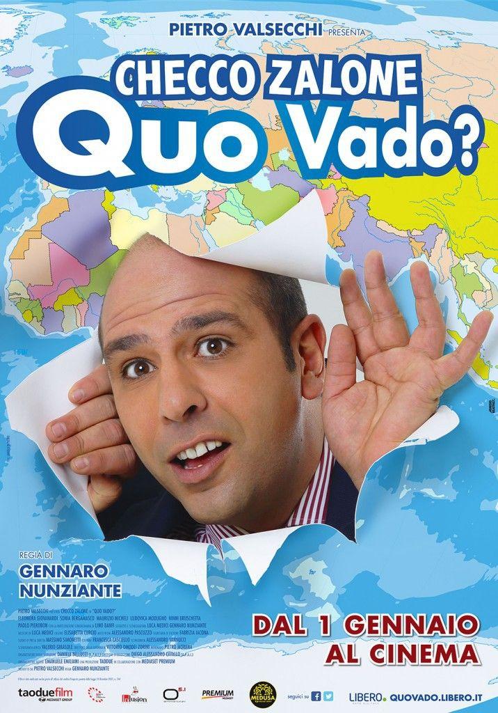 "Affiche du film ""Quo Vado ? "", sorti en salles le 1er janvier 2016  (Medusa Film)"
