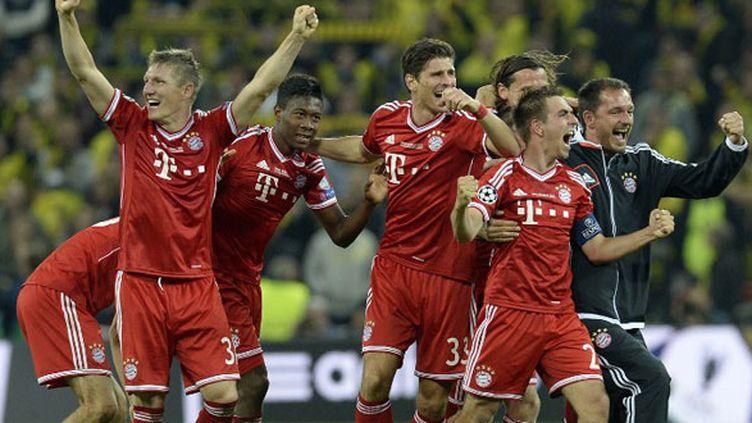 La joie des joueurs du Bayern Munich