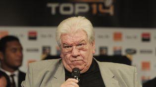 Le président de la Ligue nationale de rugby, Paul Goze, le 11 août 2014. (DOMINIQUE FAGET / AFP)