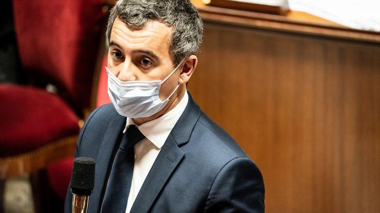 Le ministre de l'Intérieur, Gérald Darmanin, à l'Assemblée nationale, le 27 octobre 2020. (XOSE BOUZAS / HANS LUCAS / VIA AFP)