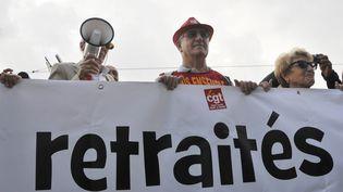 Le 30 septembre 2014, manifestation de retraités à Paris (CITIZENSIDE/YANN KORBI / AFP)