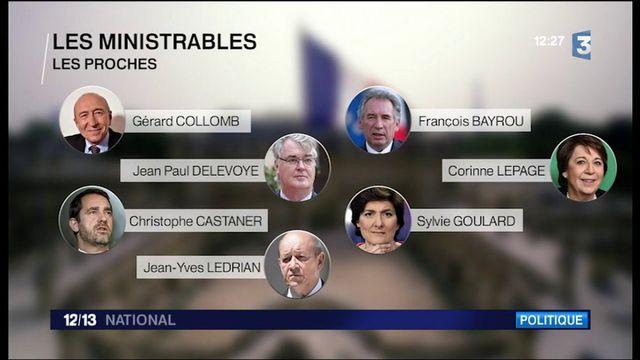 Qui fera partie du premier gouvernement d'Emmanuel Macron ?