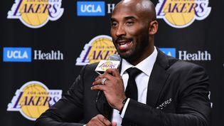 Kobe Bryant, le 18 décembre 2017 à Los Angeles. (HARRY HOW / GETTY IMAGES NORTH AMERICA / AFP)