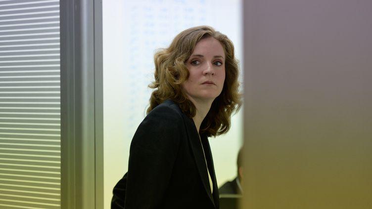 Nathalie Kosciusko-Morizet dans son QG de campagne pour les municipales à Paris, le 30 mars 2014. (ERIC FEFERBERG / AFP)