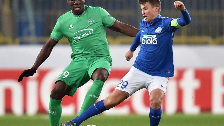 En Europa League avec les Verts, contre le FC Dnipro. (GENYA SAVILOV / AFP)