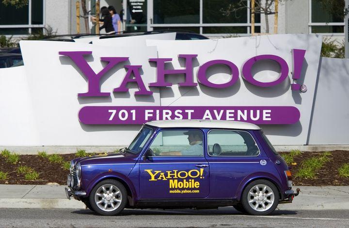 Devant le siège de Yahoo! à Sunnyvale, en Californie (Etats-Unis), le 1er février 2008. (KIMBERLY WHITE / REUTERS)