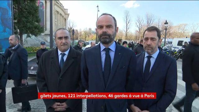 """""""Gilets jaunes"""" : Edouard Philippe dit sa """"colère"""" face aux violences à Paris"""