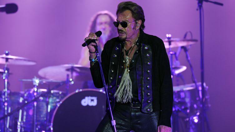Johnny Hallyday en concert aux Francofolies de La Rochelle, juillet 2015  (XAVIER LEOTY / AFP)