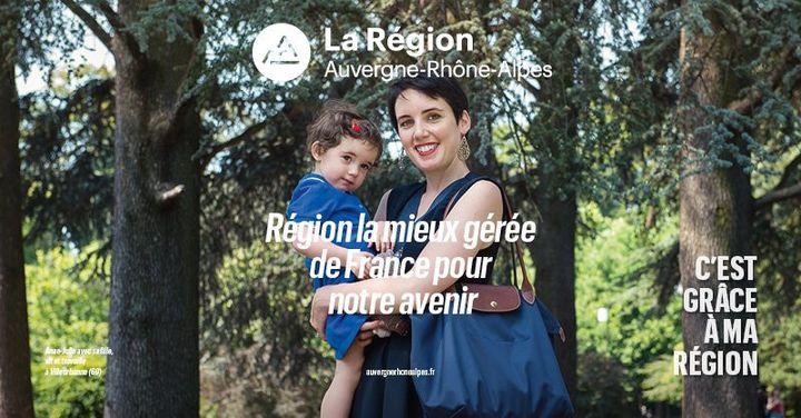 Une publicité de la région Auvergne-Rhône-Alpes. (REGION AUVERGNE-RHONE-ALPES)