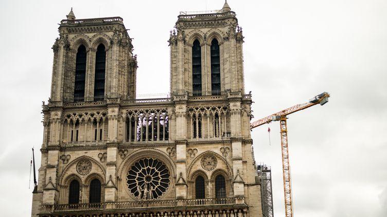 La cathédrale Notre-Dame de Paris, le 28 janvier 2021. (STEPHANE FERRER YULIANTI / HANS LUCAS / AFP)
