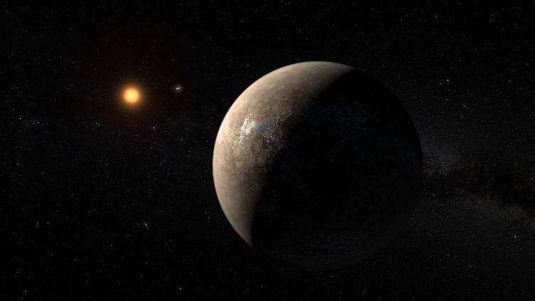 La planète Proxima b, potentielement habitable, découverte le 24 août 2016. (M. KORNMESSER / EUROPEAN SOUTHERN OBSERVATORY /AFP)