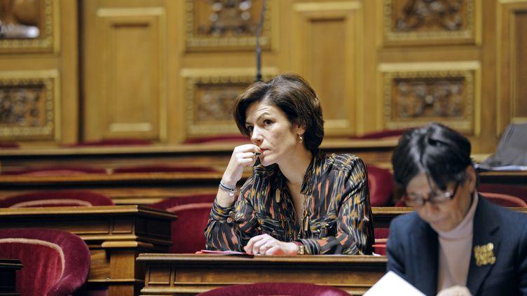 Chantal Jouanno au Sénat, à Paris, le 23 janvier 2012. (ERIC FEFERBERG / AFP)