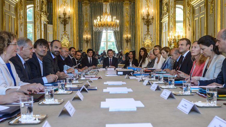 Conseil des ministres à l'Elysée, le 22 juin 2017 (CHRISTOPHE PETIT-TESSON / AFP)