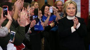 Hillary Clinton, candidate aux primaires démocrates, à Hooksett (Etats-Unis), le 9 février 2016. (JUSTIN SULLIVAN / GETTY IMAGES NORTH AMERICA / AFP)
