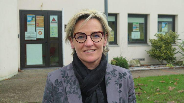 La maire PS de Canteleu (Seine-Maritime), le 5 janvier 2021. (XAVIER ORIOT / MAXPPP)
