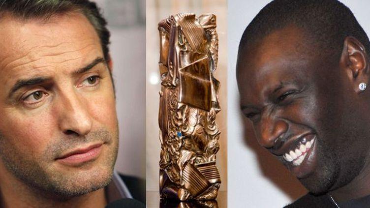 Qui de Jean Dujardin et Omar Sy recevra le César du meilleur acteur ?  (SIPA/LORENVU/ Thibault Camus/AP)