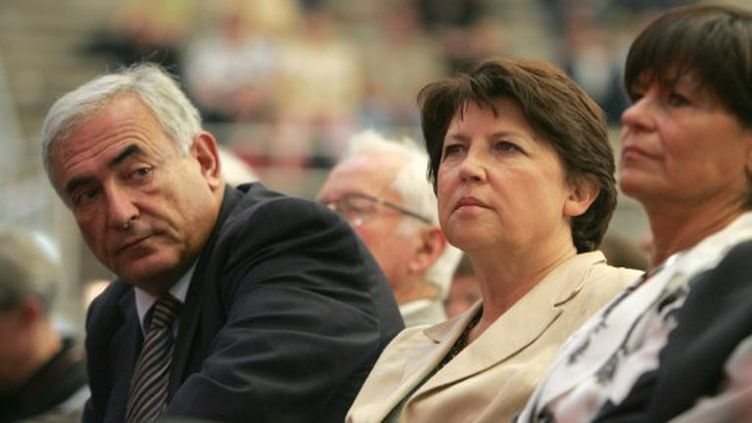 Dominique Strauss-Kahn et Martine Aubry à Lens, le 16 septembre 2006 (AFP/Philippe Huguen)