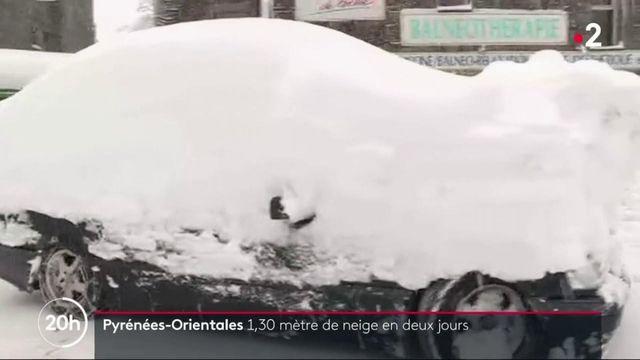 Pyrénées-Orientales : jusqu'à 1,30 mètre de neige en montagne