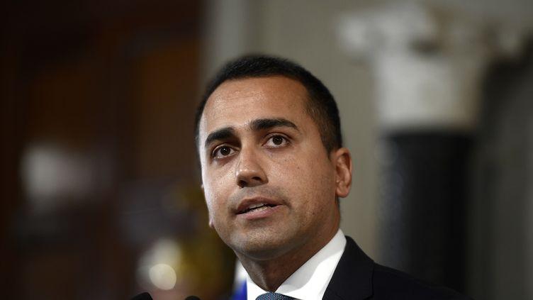Le leader du Mouvement 5 étoiles, Luigi Di Maio, à Rome (Italie), le 28 août 2019. (FILIPPO MONTEFORTE / AFP)