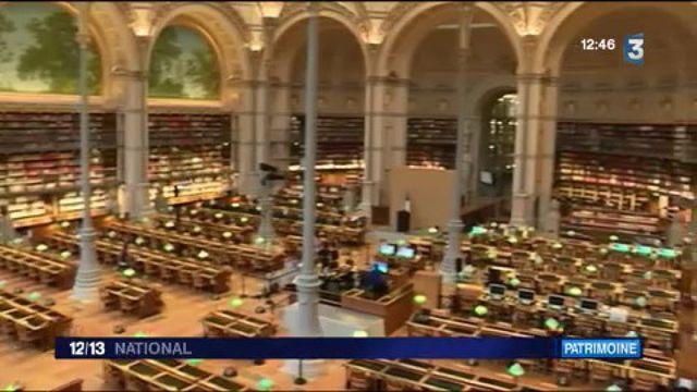 Fenêtre sur la bibliothèque Richelieu-Louvois