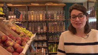Caroline Lymer a créé une épicerie sans déchets (CAPTURE D'ÉCRAN FRANCE 2)