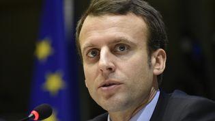 Emmanuel Macron, le 15 février 2016. (JOHN THYS / AFP)