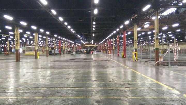 L'usine Goodyear d'Amiens-Nord est aujourd'hui presque entièrement vidée. (JEAN-FRANÇOIS QUANDALLE)