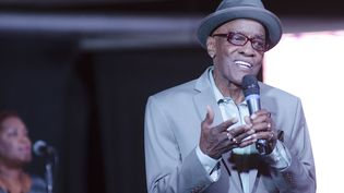 Le chanteur américain Billy Paul, le 16 août 2015, à Sao Paulo (Brésil). (LEVI BIANCO / BRAZIL PHOTO PRESS / AFP)