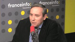 L'avocat du policier mis en examen pour viol à Aulnay-sous-Bois en Seine-Saint-Denis, après l'interpellation violente du jeune Théo,Frédéric Gabet. (FRANCEINFO)