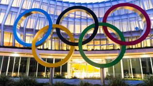 Le nouveau siège du Comité international olympique, à Lausanne, en décembre 2019. (VINCENT ISORE / MAXPPP)