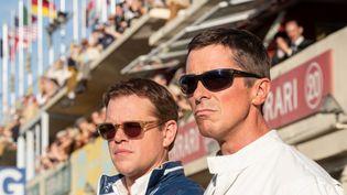 """Matt Damon et Christian Bale dans """"Le Mans 66"""" de James Mangold. (Copyright 2019 Twentieth Century Fox)"""