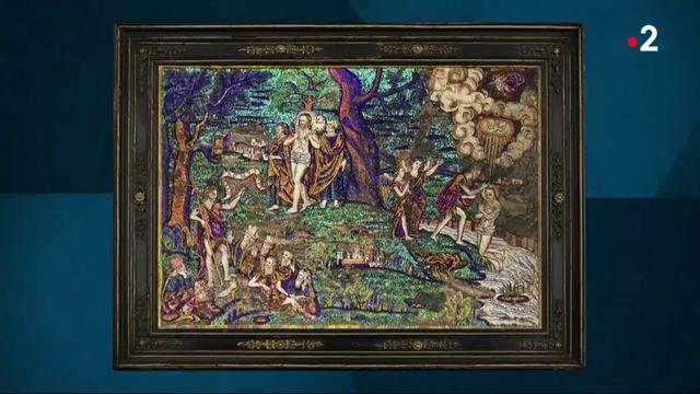 Peinture : un exceptionnel tableau aztèque en plumes exposé à Paris