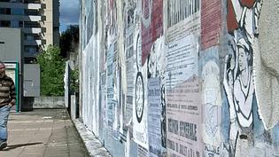 """La fresque d'Ernest Pignon Ernest observée par le directeur de """"Spacejunk""""  (France3/Culturebox)"""