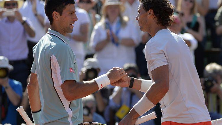 Novak Djokovic et Rafael Nadal se retrouveront pour la 44e fois (MIGUEL MEDINA / AFP)