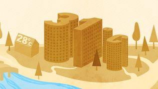 Après avoir publié des données inédites sur ce phénomène dans 42 métropoles françaises, franceinfovous résume ce qu'il faut savoir sur les îlots de chaleur. (ELLEN LOZON / FRANCEINFO)