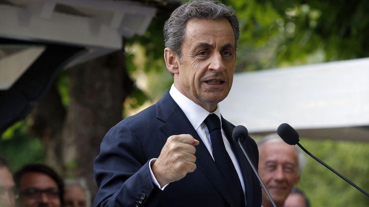 Nicolas Sarkozy, le président des Républicains, le 18 juin 2015 à L'Isle-Adam (Val-d'Oise). (FRANCOIS GUILLOT / AFP)